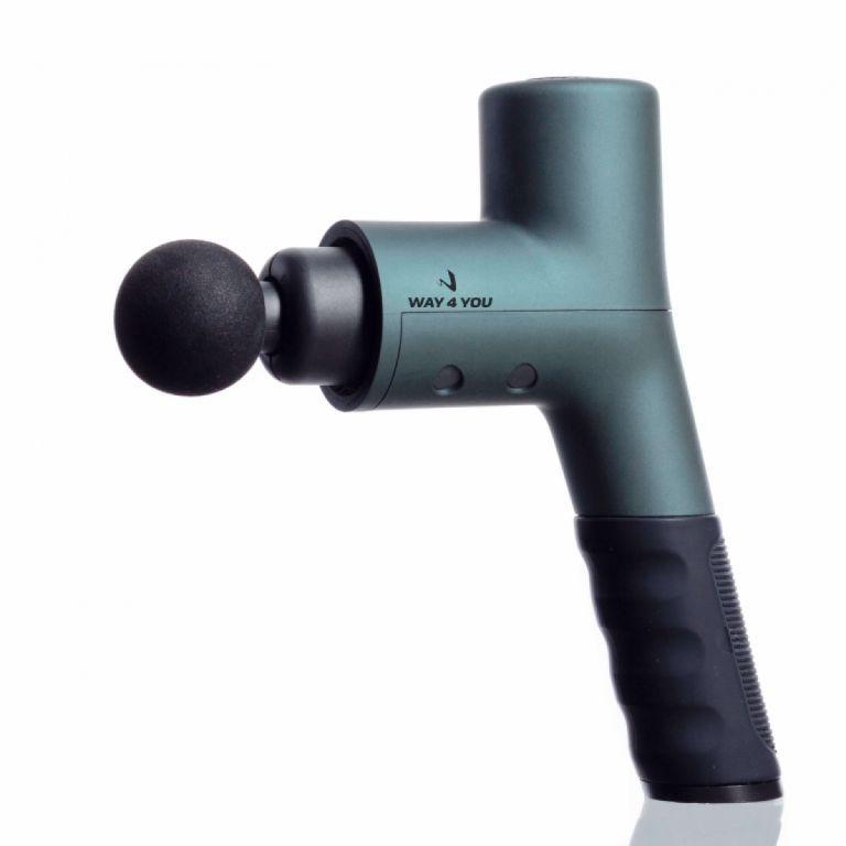 Вибрационный ударный массажер-пистолет Way4you Elite Massager Gun