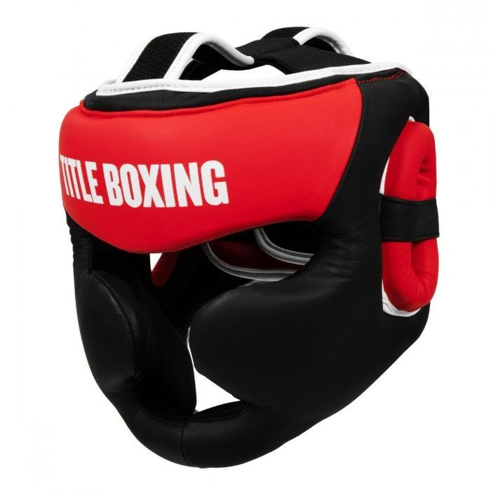Боксерский шлем TITLE Select Leather Full Face Training Headgear-S/M