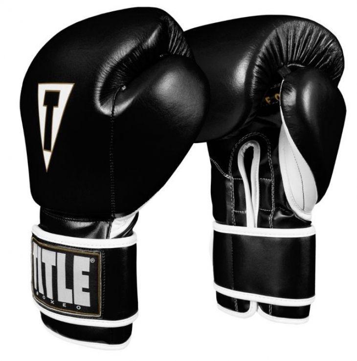 Перчатки для бокса TITLE Boxeo Mexican Leather Training Gloves Tres-12