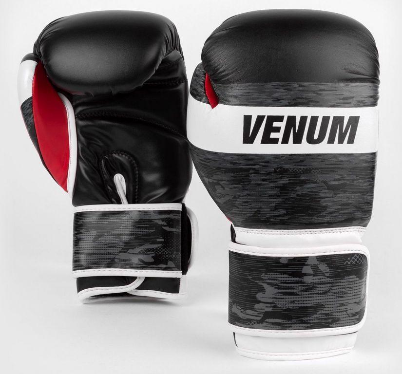 Боксерские перчатки Venum Bandit Boxing Gloves Black Grey-14