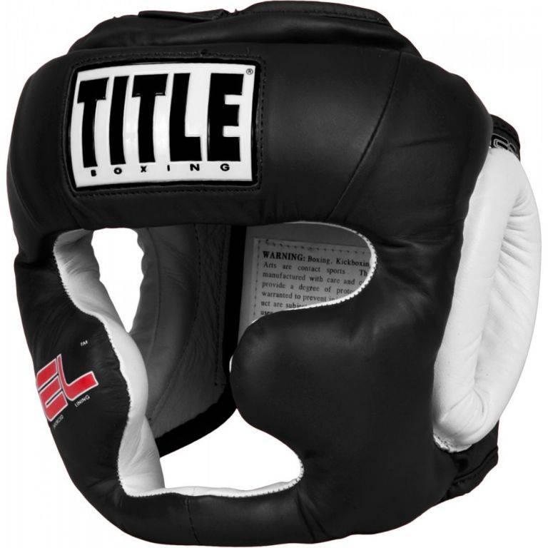 Боксерский шлем TITLE Gel World Full Face Training Headgear-M