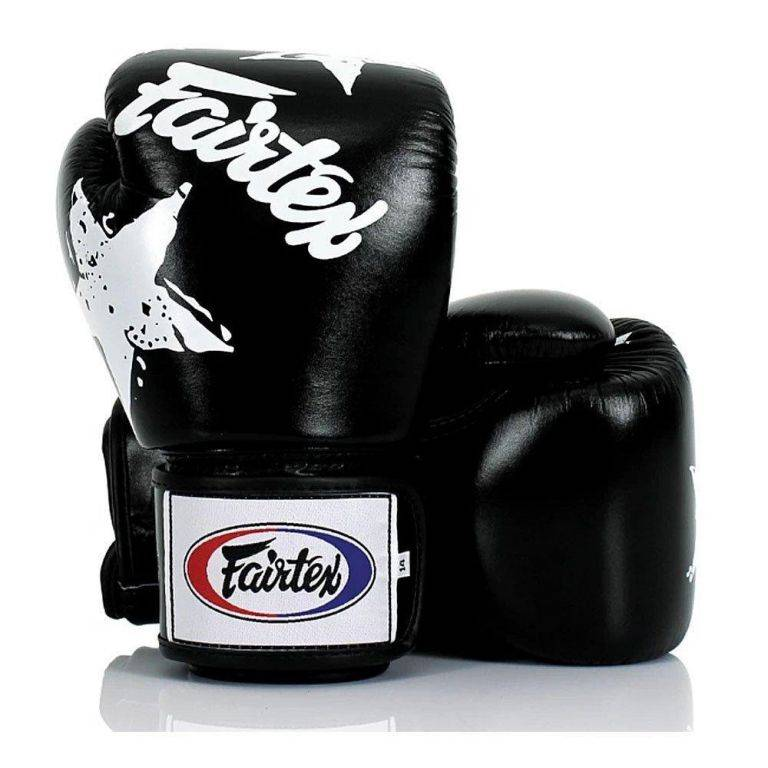 Перчатки боксерские Fairtex BGV1 Black/White Nation 10 унций
