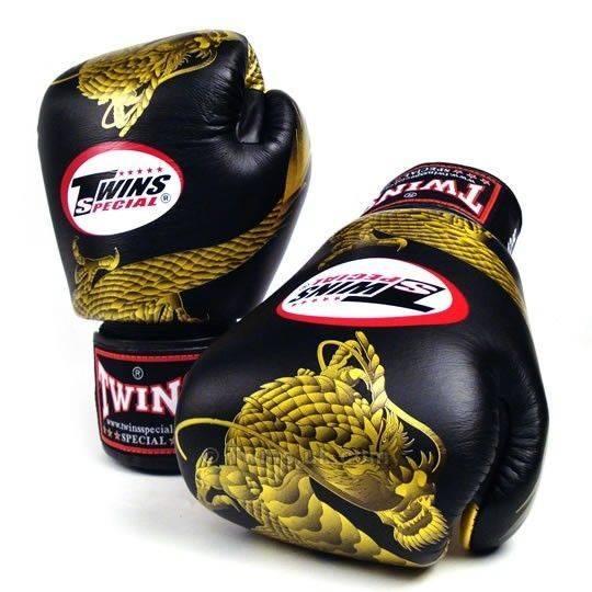 Боксерские перчатки Twins Dragon FBGV-23G 10 унций
