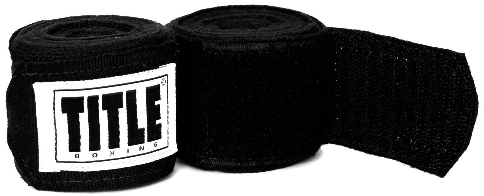 Бинты TITLE Mexican Style 4,57м-черный