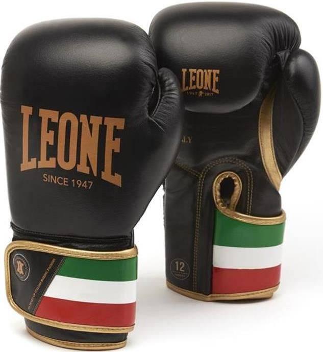 Боксерские перчатки Leone Italy Black-10