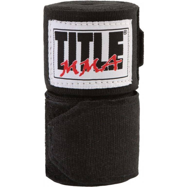 Бинты TITLE MMA Semi-Elastic 3,05м-черный