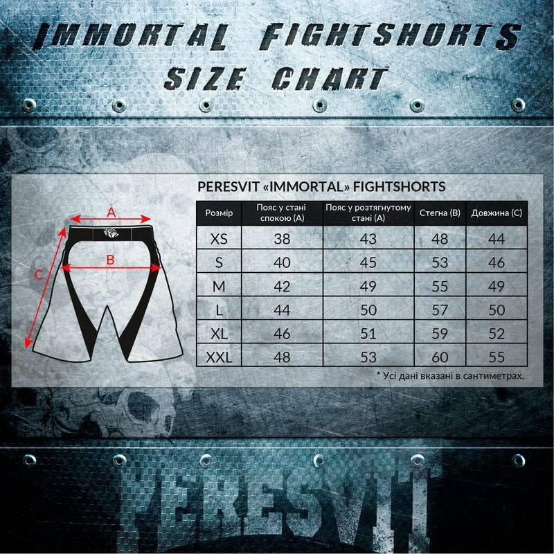 Шорты Peresvit Immortal Fightshorts Black Rain-XS