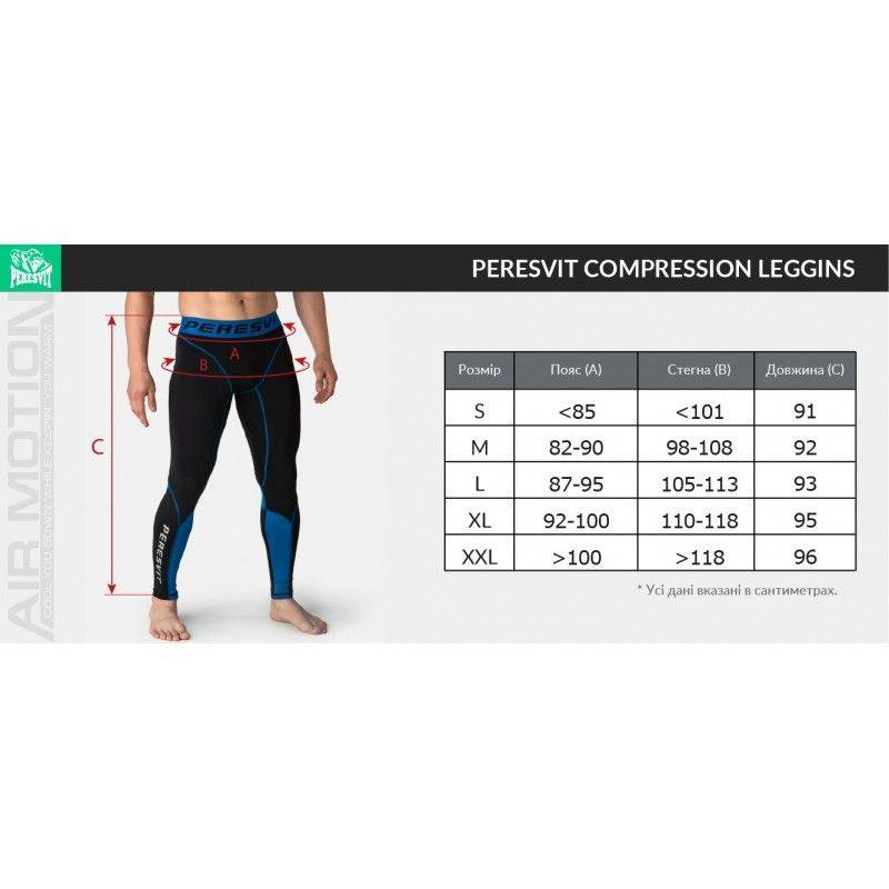 Компрессионные штаны Peresvit Air Motion Compression Leggins Black Red-S