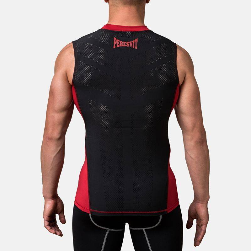 Компрессионная футболка без рукавов Peresvit Air Motion Compression Tank Red-S