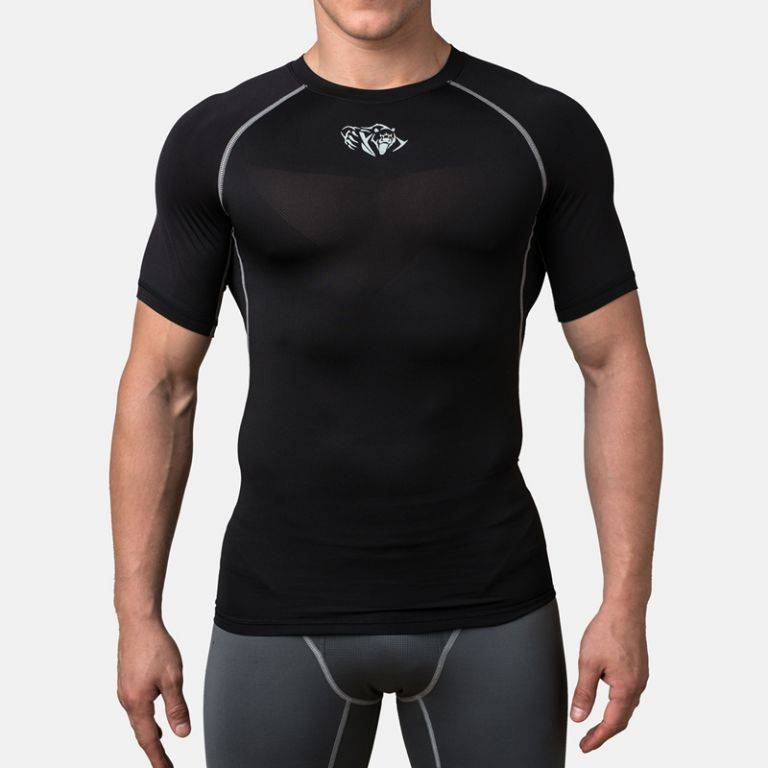 Компрессионная футболка Peresvit Air Motion Compression Short Sleeve Black Grey-S