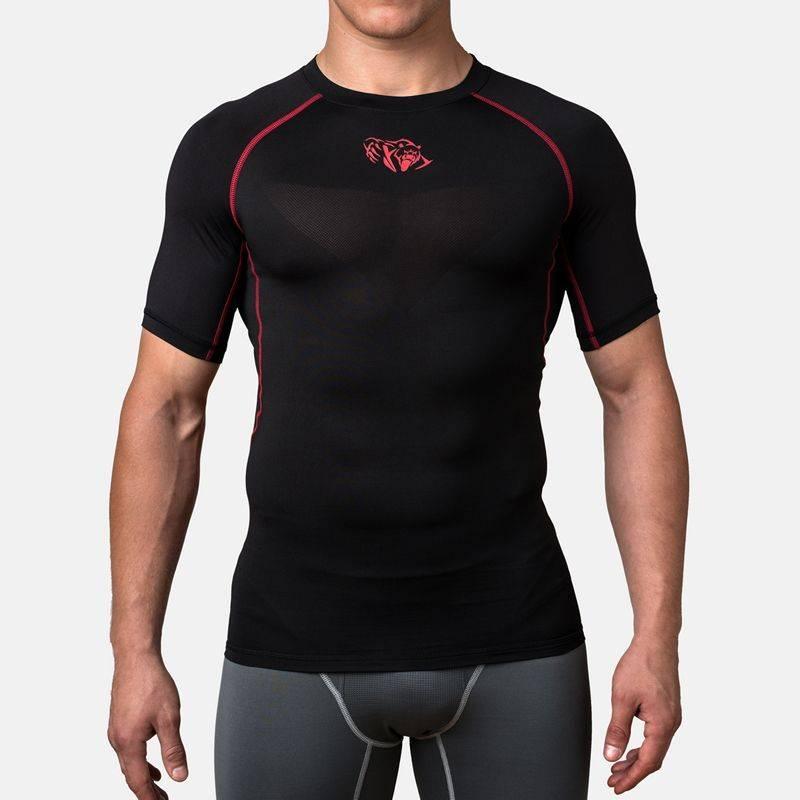 Компрессионная футболка Peresvit Air Motion Compression Short Sleeve Black Red-S