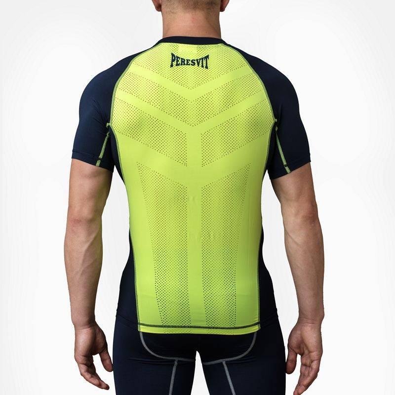 Компрессионная футболка Peresvit Air Motion Compression Short Sleeve Navy Yellow-S