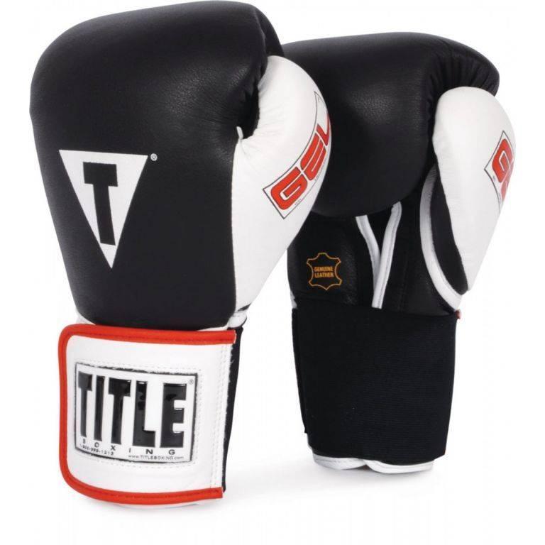 Боксерские перчатки TITLE GEL World Elastic Training Gloves-12