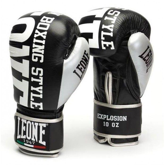 Боксерские перчатки Leone Explosion Black/White