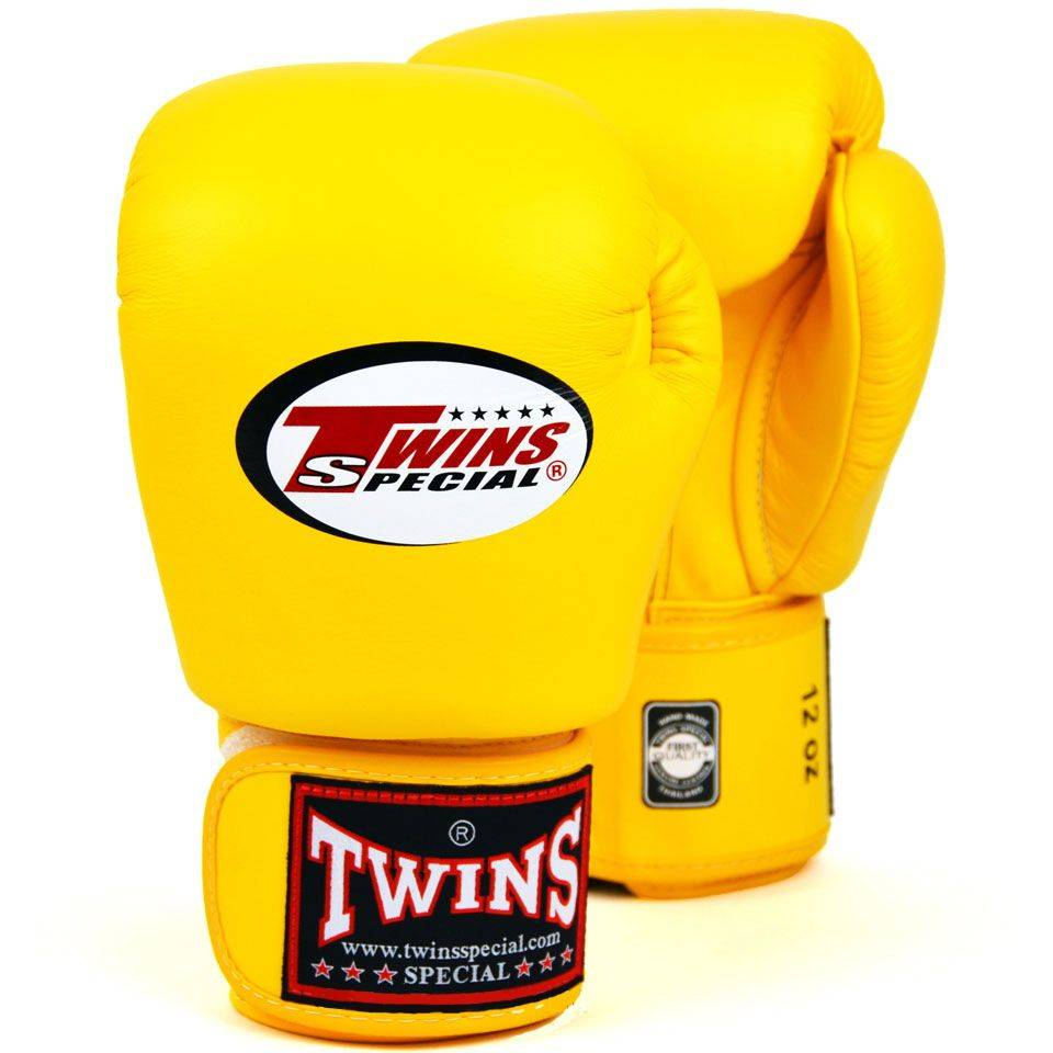 Боксерские перчатки Twins Special BGVL-3 White/Yellow-10