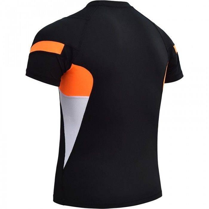 Рашгард с коротким рукавом RDX Lycra Orange-S