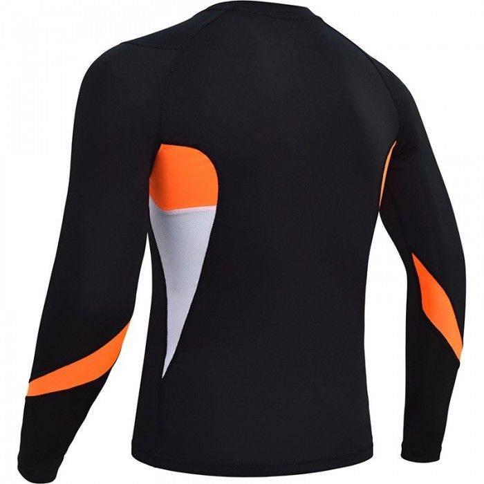 Рашгард с длинным рукавом RDX Lycra Orange-M