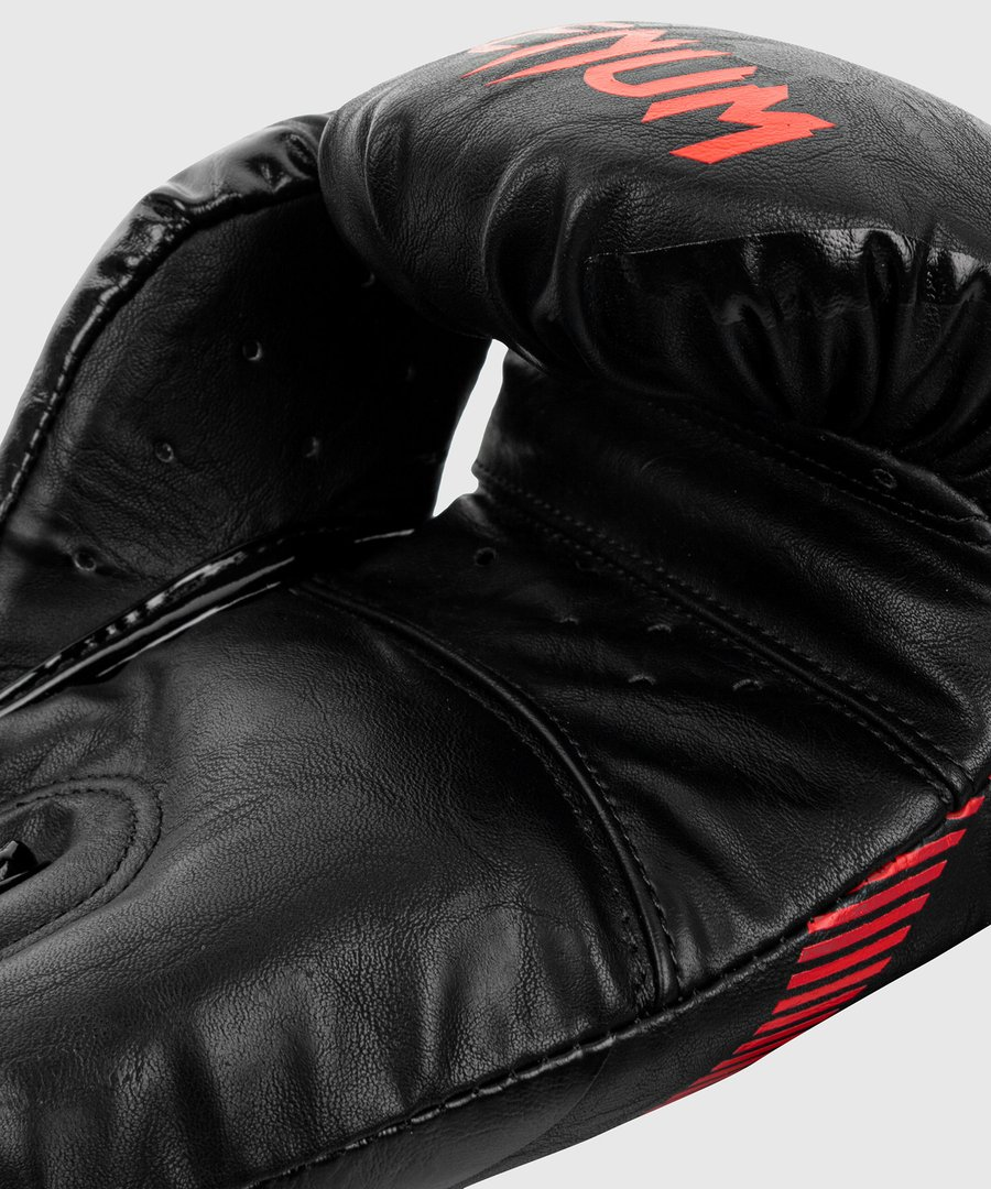 Боксерские перчатки Venum Impact Boxing Gloves Black Red-12