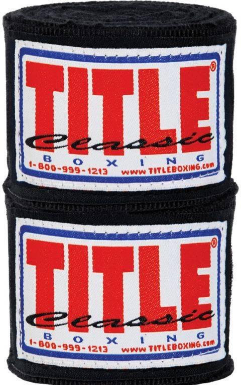Бинты боксерские TITLE Classic Mexican Style 4,57м-черный