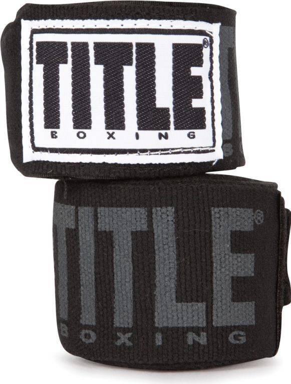Бинты боксерские TITLE Power-Flex Elite 4,57м-черный