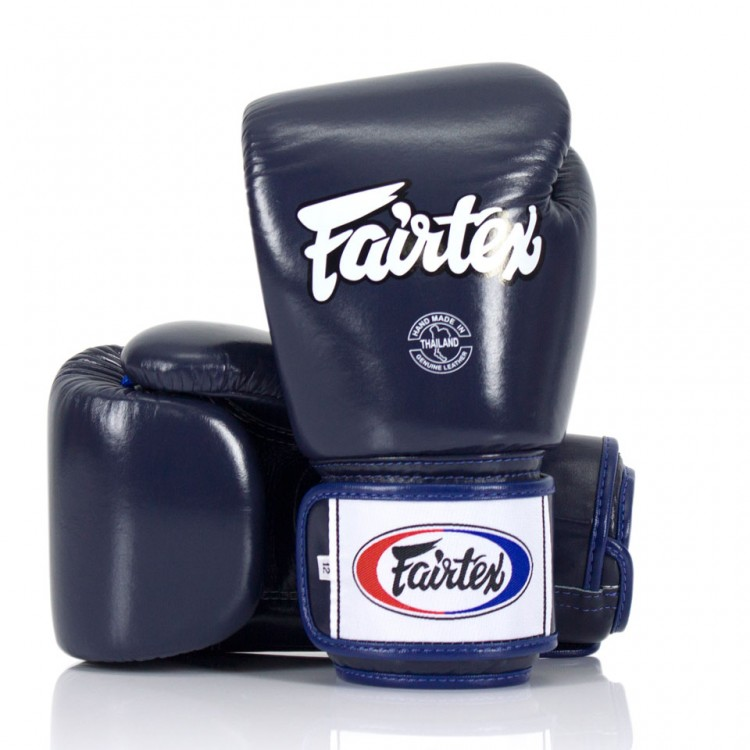 Боксерские перчатки Fairtex BGV1 Синие 10 унций