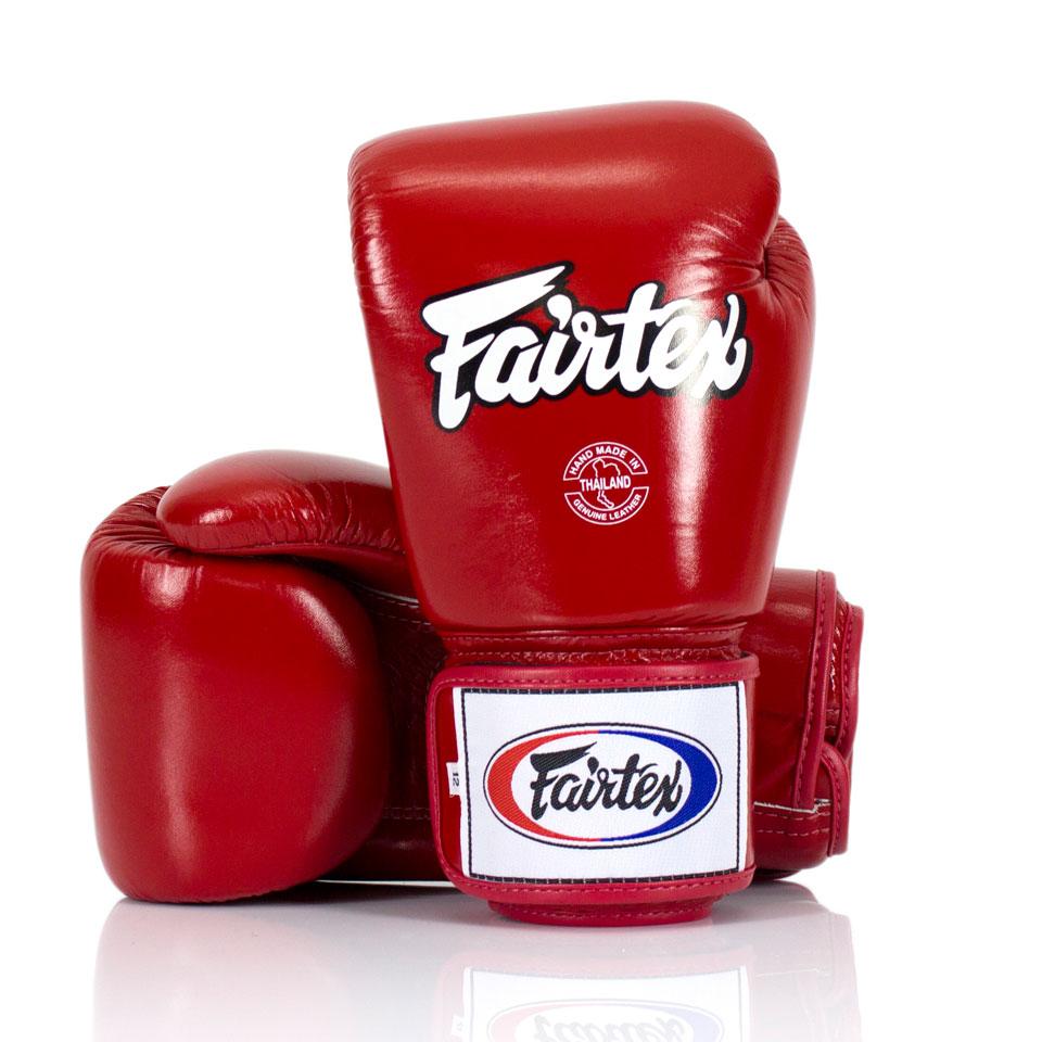 Боксерские перчатки Fairtex BGV1 Красные 10 унций