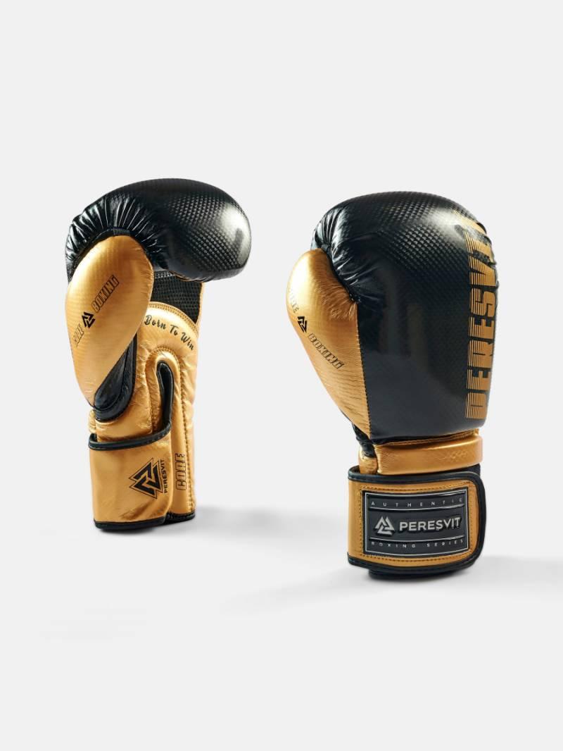 Боксерские перчатки Peresvit Core Boxing Gloves Black Gold 6 унций