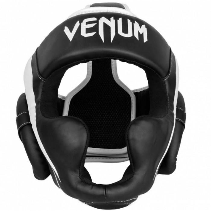 Боксерский шлем Venum Elite Headgear Черно-белый