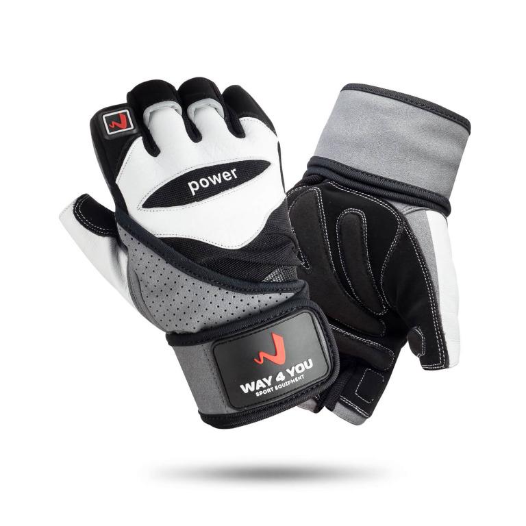 Перчатки для фитнеса и тяжелой атлетики с напульсником Way4you M